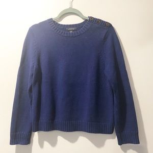 LAND'S END 100% Cotton Knit Sweater, Medium Petite